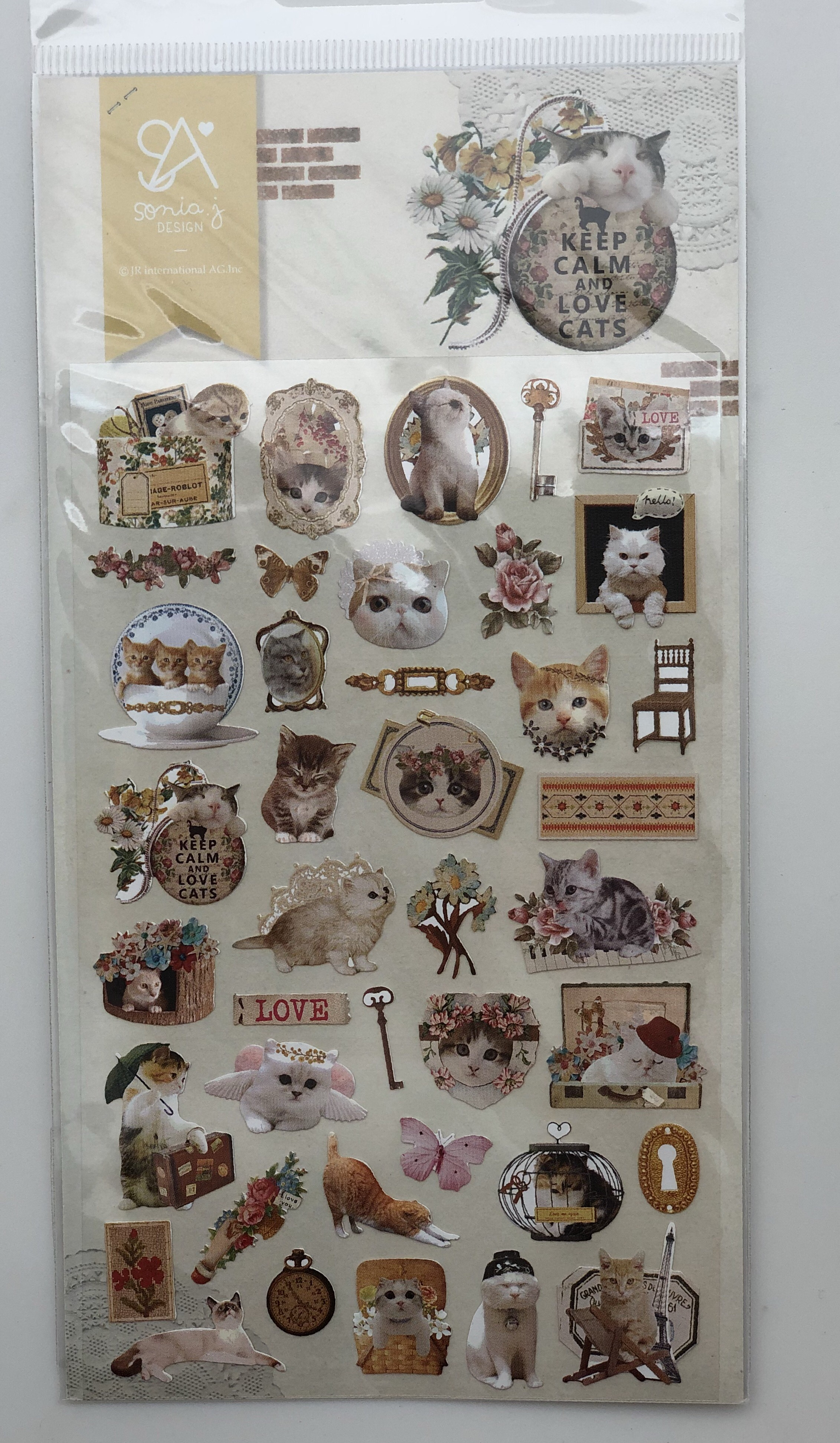 Lovely-Cat-Stickers-Sonia-J