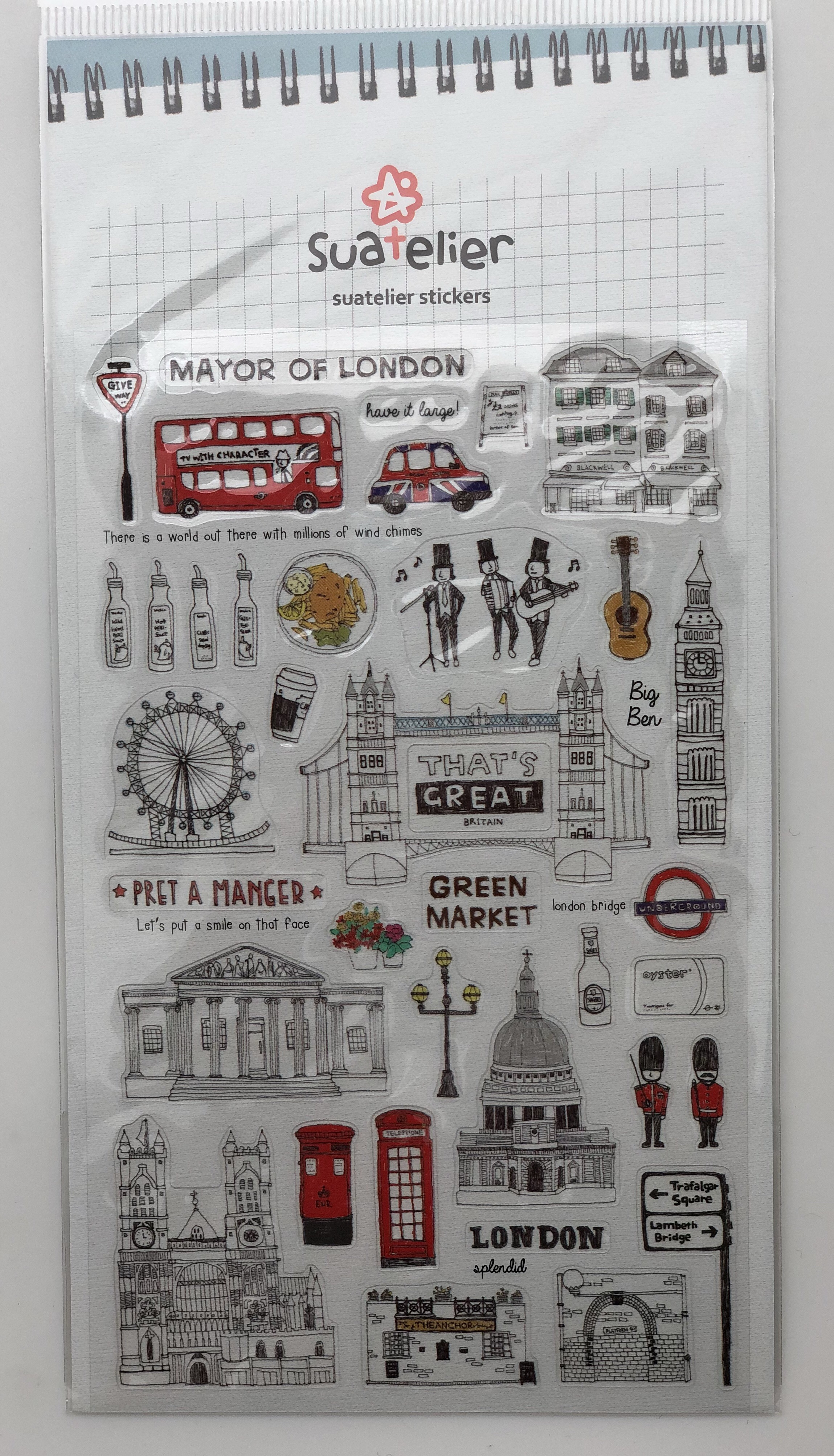 Suatelier-Days-In-London-England-Travel-Journal-Stickers